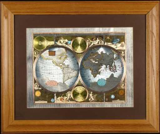 Class Accurate World Map FRAMED MATTED 1626