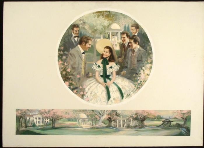 Original Civil War Painting Gone With The Wind Chambers