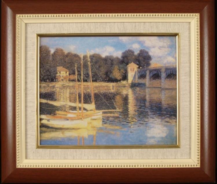 Claude Monet Framed Repro Art Print Boats