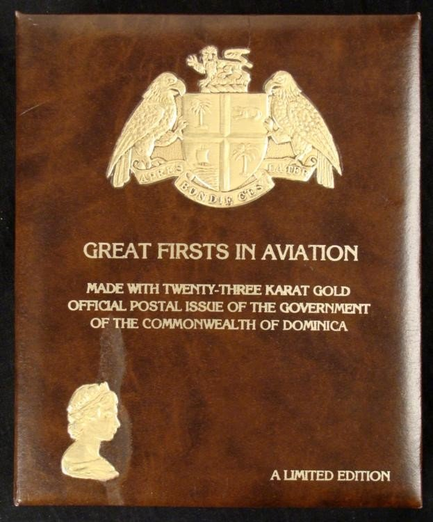 Great Firsts in Aviation 23K Gold Stamp Ltd Ed Album