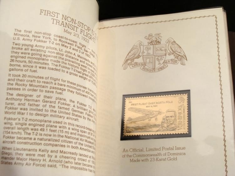 Great Firsts in Aviation 23K Gold Stamp Ltd Ed Album - 2