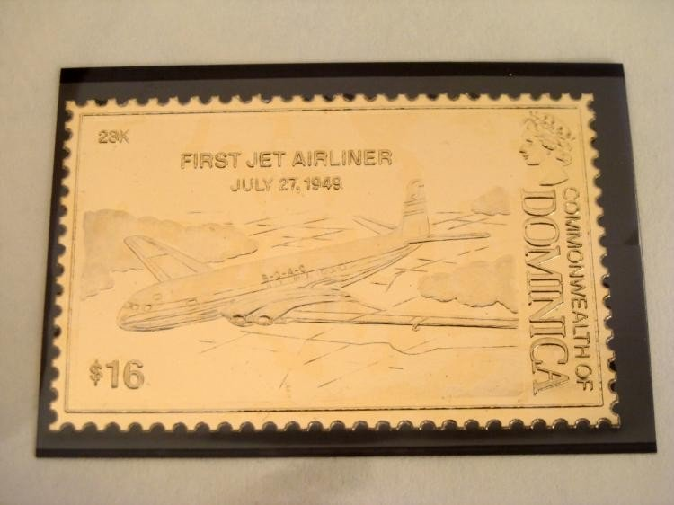 Great Firsts in Aviation 23K Gold Stamp Ltd Ed Album - 3
