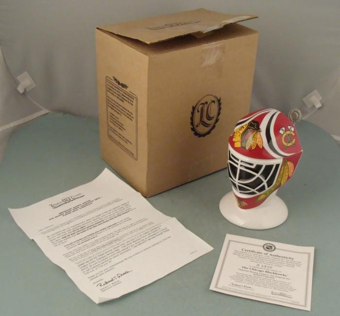 Chicago Blackhawks Ltd Ed Stein Hockey Goalie Mask Mug