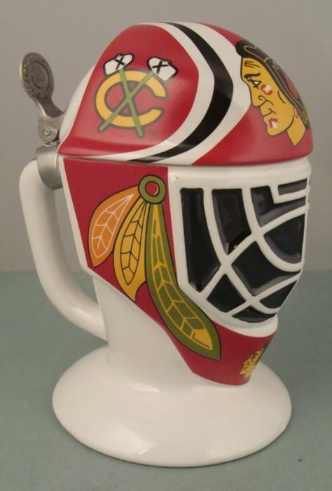Chicago Blackhawks Ltd Ed Stein Hockey Goalie Mask Mug - 2