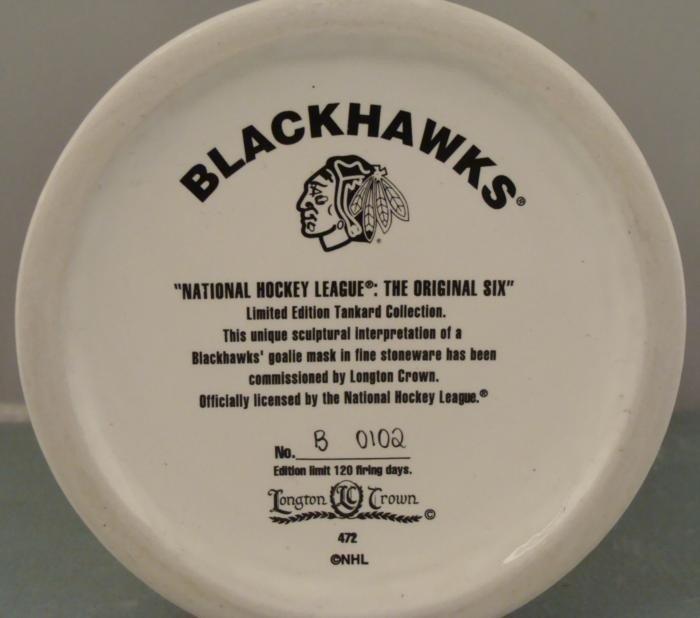 Chicago Blackhawks Ltd Ed Stein Hockey Goalie Mask Mug - 4