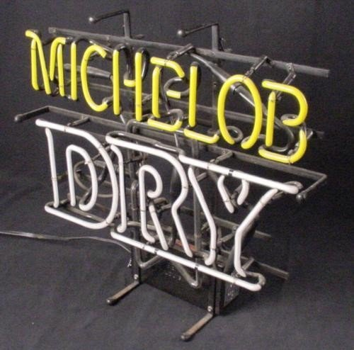 Michelob Dry Beer 3 D Logo 3 Color Neon Bar Decor Sign - 3