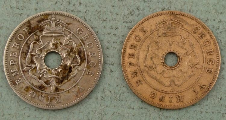 Two Southern Rhodesia One Penny Coins 1940 and 1943 - 2