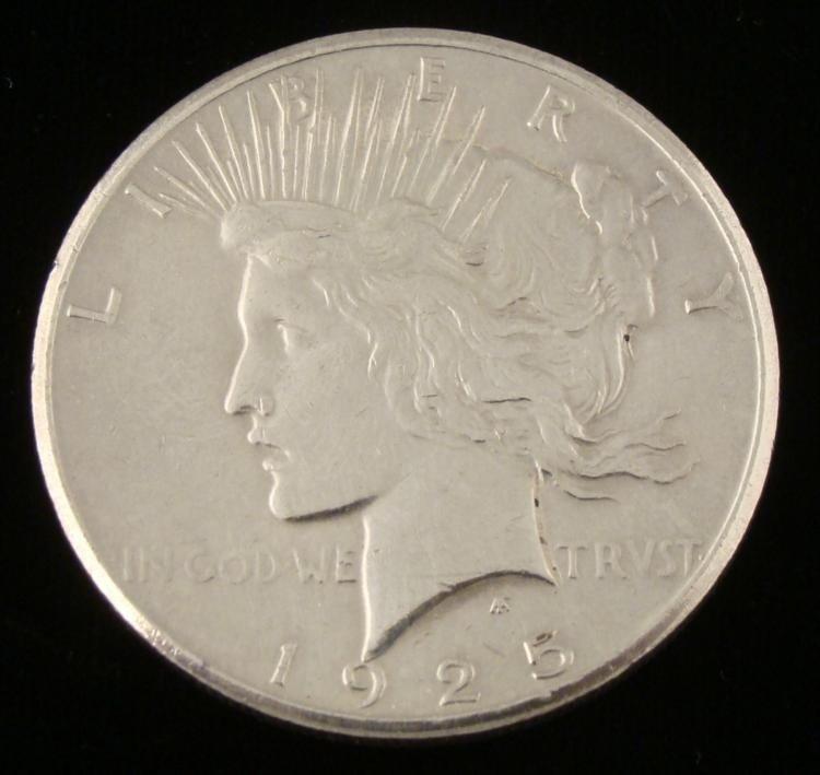 1925 Silver Peace Dollar Coin