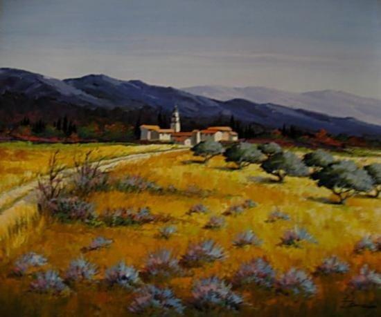 Colorful_Desert2 Original Oil 21.5 x 25.5-French Artist