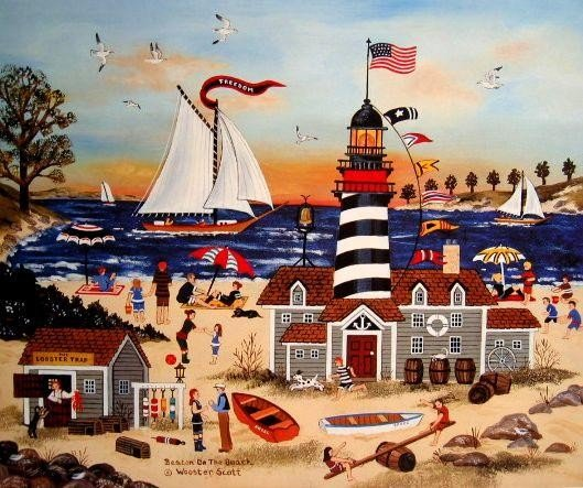 Beacon on the Beach by Jane Wooster Scott