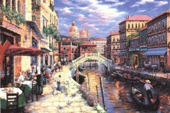 Venice 24x32 by Marks 24x32 S/N Giclee