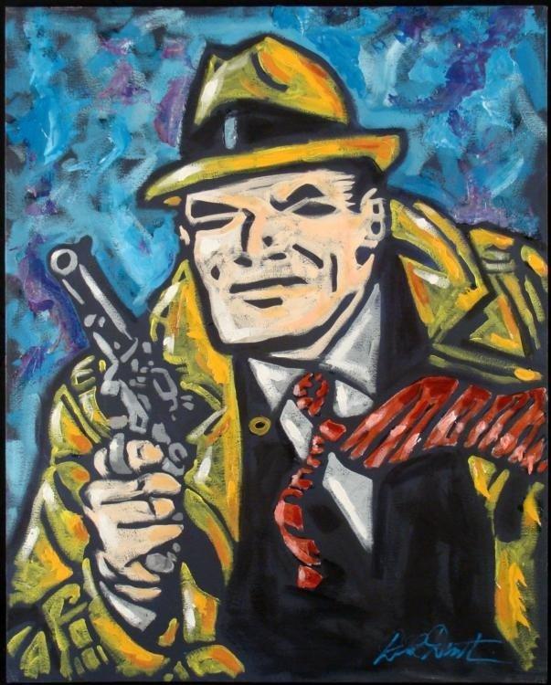 Duerrstein Dick Tracy Original Comic Art Painting