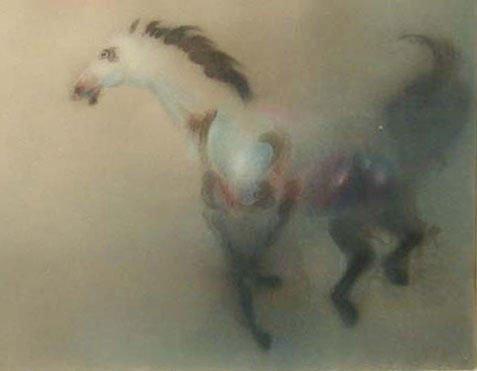 Mustang By Kaiko Moti-Aquatint Etching S/N