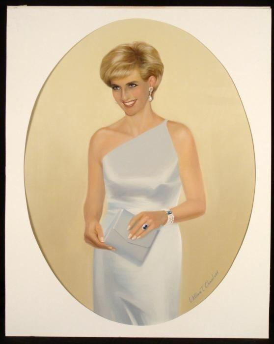 William Chambers Original Art Lady Diana Painting