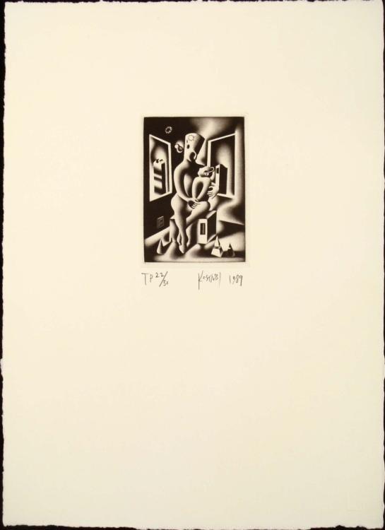 Kostabi - Oepdipus of Mother Knows Best 1989 Print
