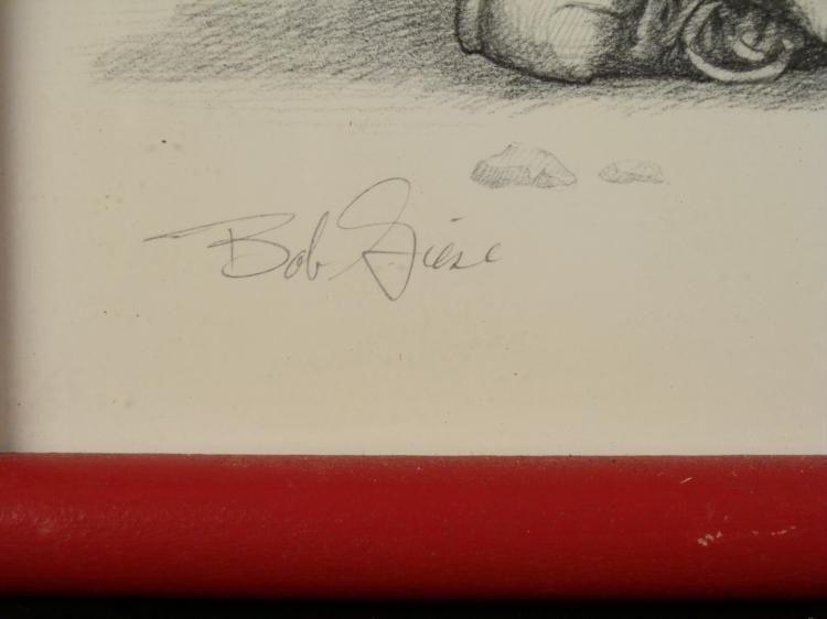 Bob Giese Signed Art Print Parade Two Children Frmd - 3