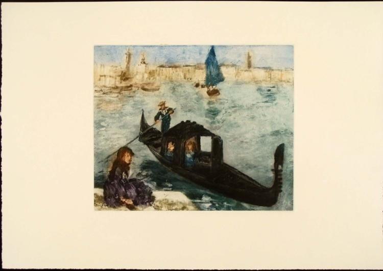 Renoir Colored Etching Art Print - Venise (Venice)