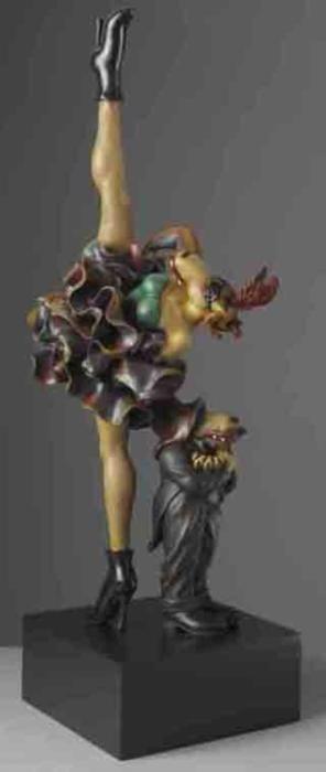Markus Pierson 'Dancer & Censor' Painted Cast Resin