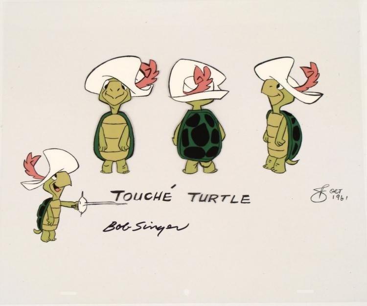 Touche Turtle Original Animation Model Cel Signed 1961