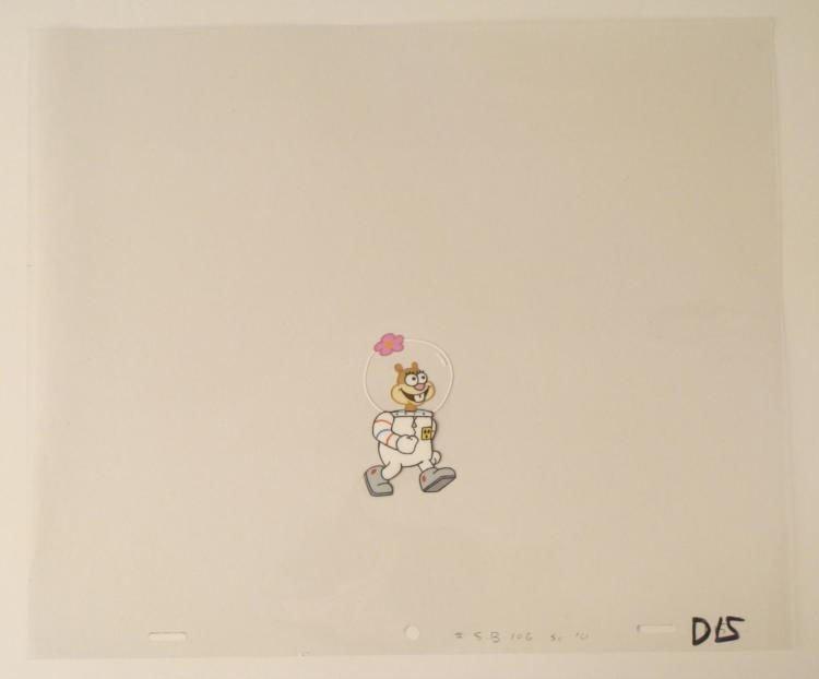 Suit Walking Cel Original Animation Art SpongeBob