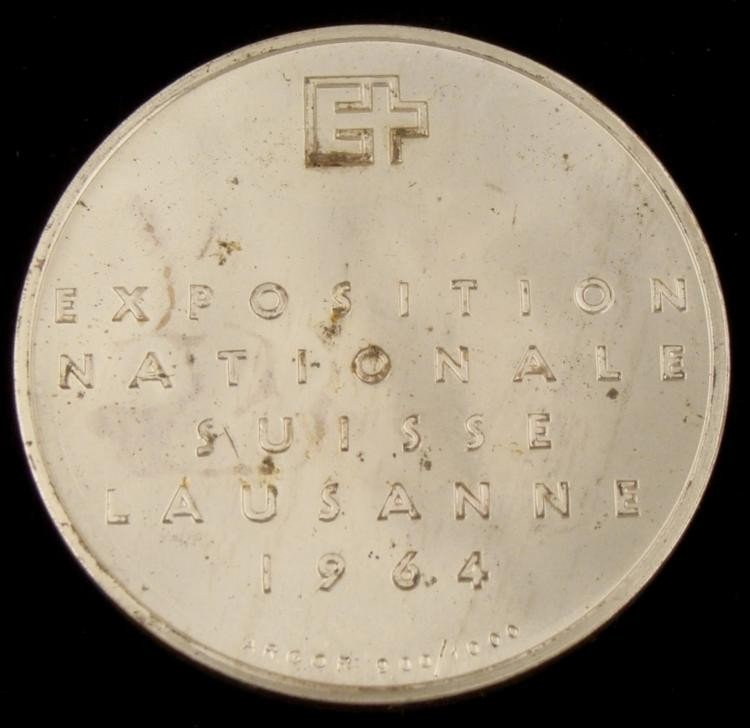 Silver Exposition Nationale Suisse Lausanne 1964 Coin