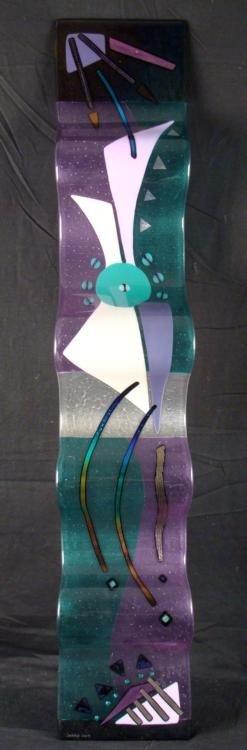 Savanah Original Large Art Glass Wall Sculpture Wave