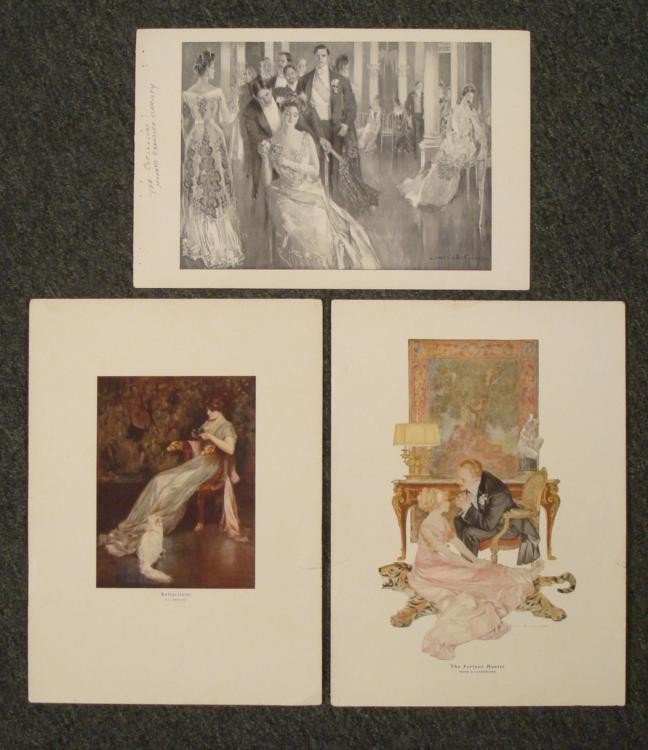 3 Vintage Fashion Magazine Art Prints Christy, Nikolaki