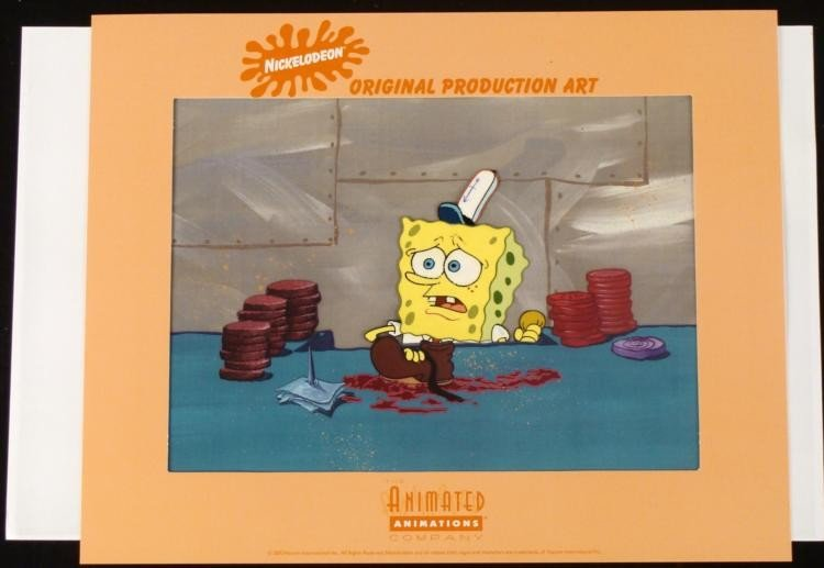 Recipe Original Cel SpongeBob Background Production Art