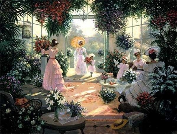 Christa Kieffer - Tea in the Conservatory