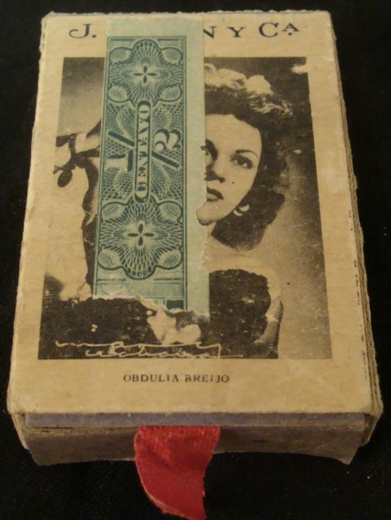 WWII ERA BOX OF CUBAN MATCHES W/MATCHES + CELEBRITIES