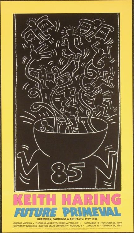 Keith Haring : Subway Drawings Exhibition Art Print