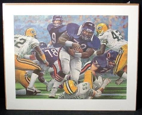 1985 Bears Packers Fridge Touchdown Art Print Corning