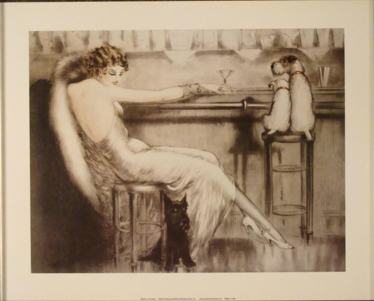 Louis Icart : Le Cocktail Art Print