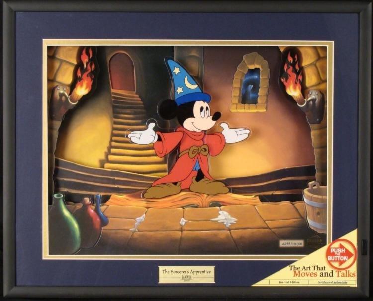 Sorcerers Apprentice Disney Fantasia Animated Picture