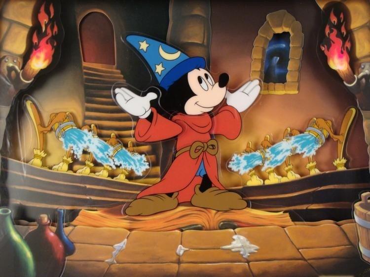 Sorcerers Apprentice Disney Fantasia Animated Picture - 2