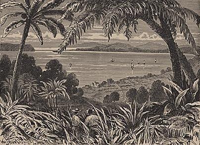 ORIGINAL Antique PRINT scene- VIEW OF JAMAICA