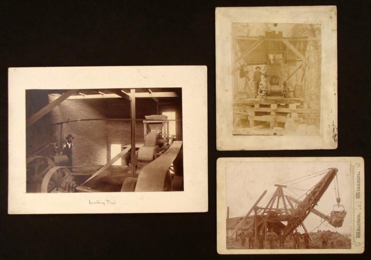 3 Antique Photo Prints Machinery/Construction Equipment