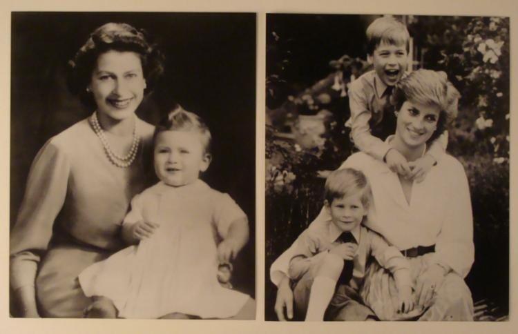 2 Lady Di Prince Charles Elizabeth II Orig Press Photos