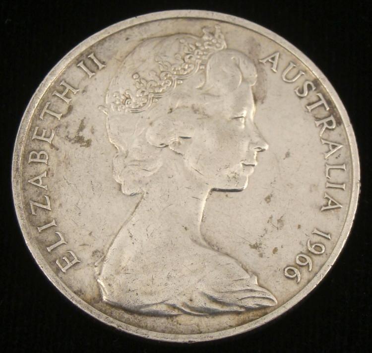 1966 Australia Silver Fifty Cents Hi-Grade Coin