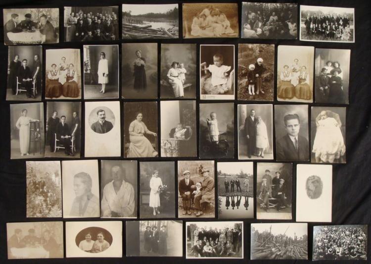 37 Vintage Real Photo Postcards RPPC Latvian Americans