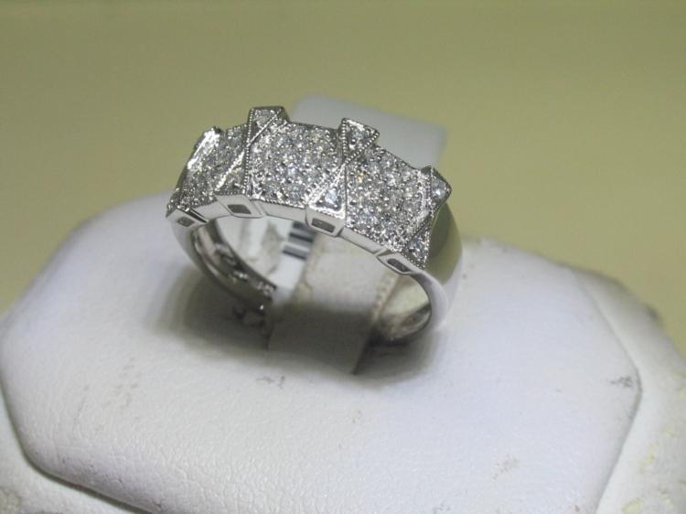 All Diamonds .41 Carat 14K White Gold Ring Size 7 1/4