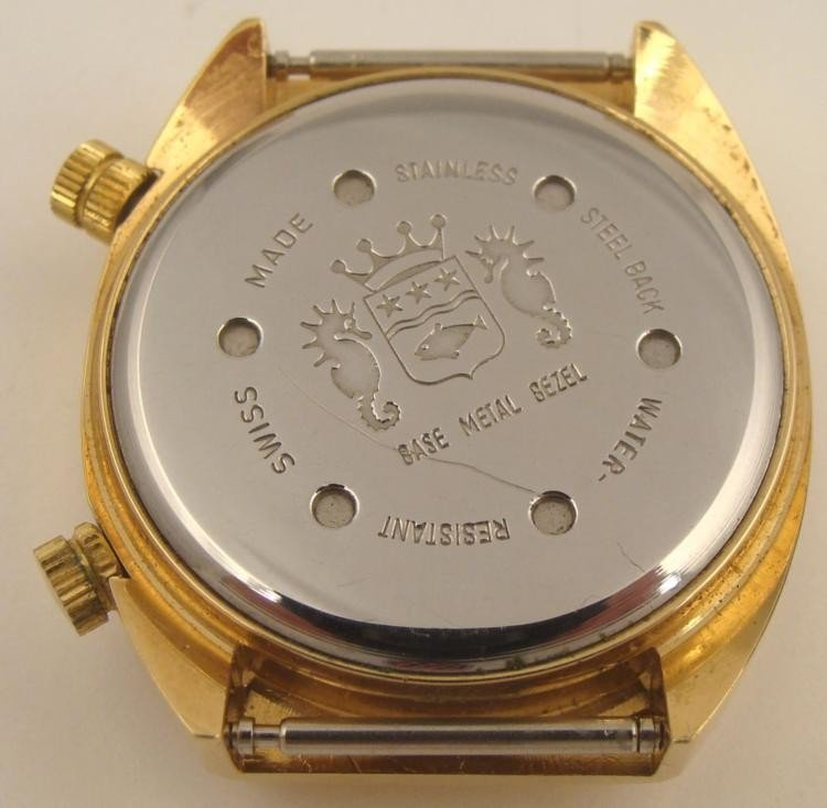 Cordura Signal Incabloc Swiss Gold Tone Watch 1970s 17J - 3