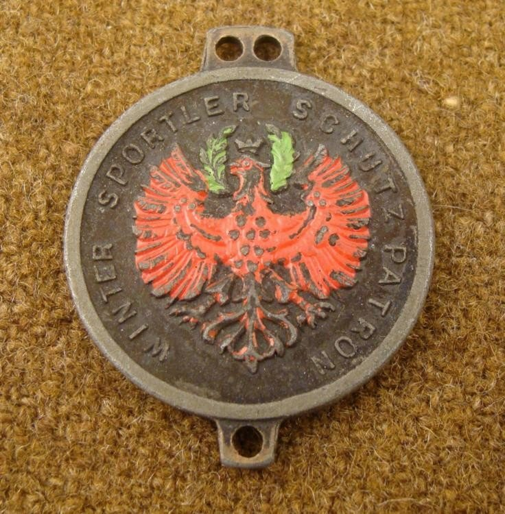 WINTER SPORTS FESTIVAL IMPERIAL GERMAN WATCH FOB