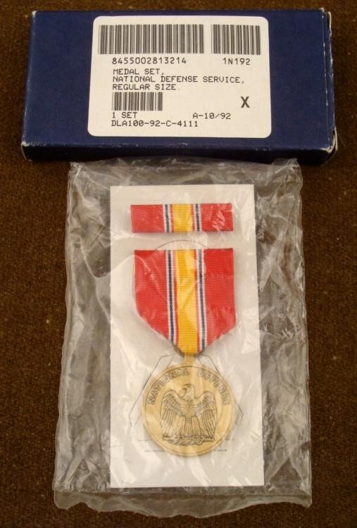 UNITED STATES NATIONAL DEFENSE MEDAL AND BAR