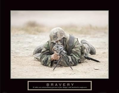 Bravery Sniper Military Man U.S. Soldier Poster Print