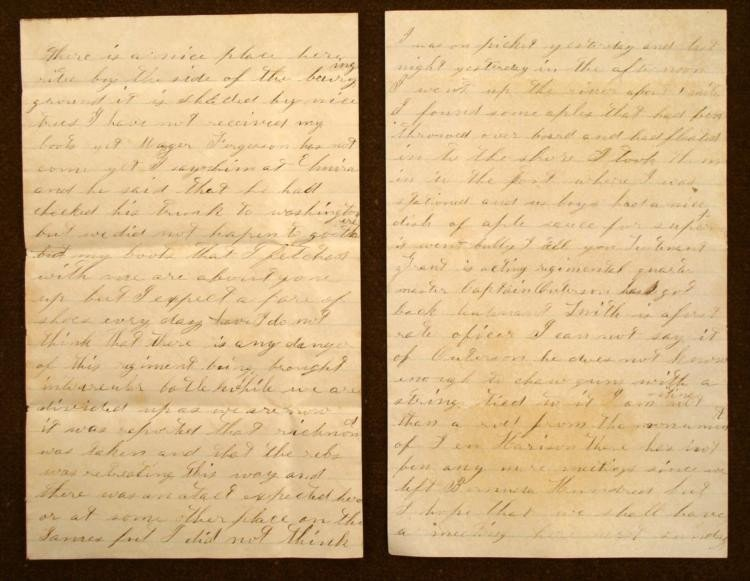 RARE ORIGINAL 4 PAGE LETTER FROM CIVIL WAR SOLDIER
