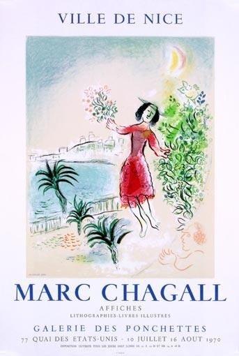 Marc Chagall Art Print Baie de Nice Mourlot 1970