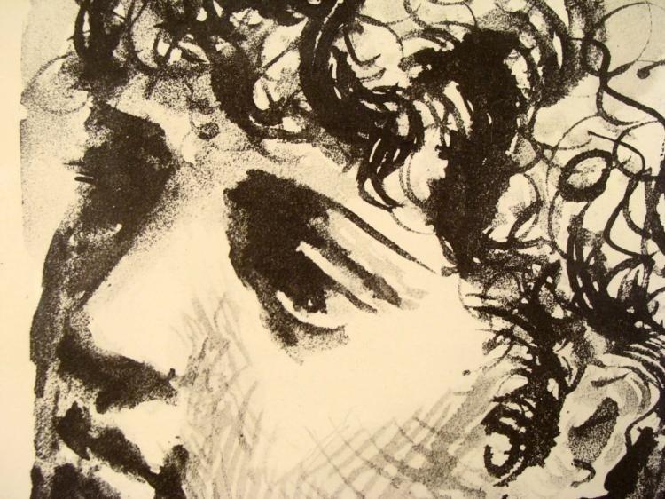 Pablo Picasso Lithograph Tete de Femme Framed 1930 - 3
