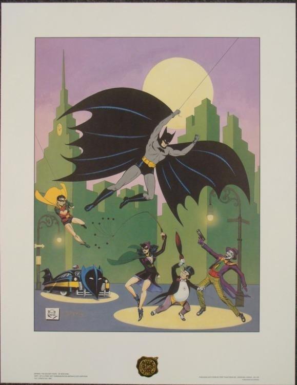 Bob Kane Golden Years PP Batman 50th Anniversary Print