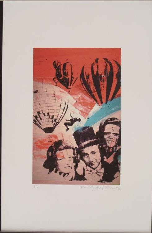 Bobby Hill Signed Willie Wonka Pop Art Print
